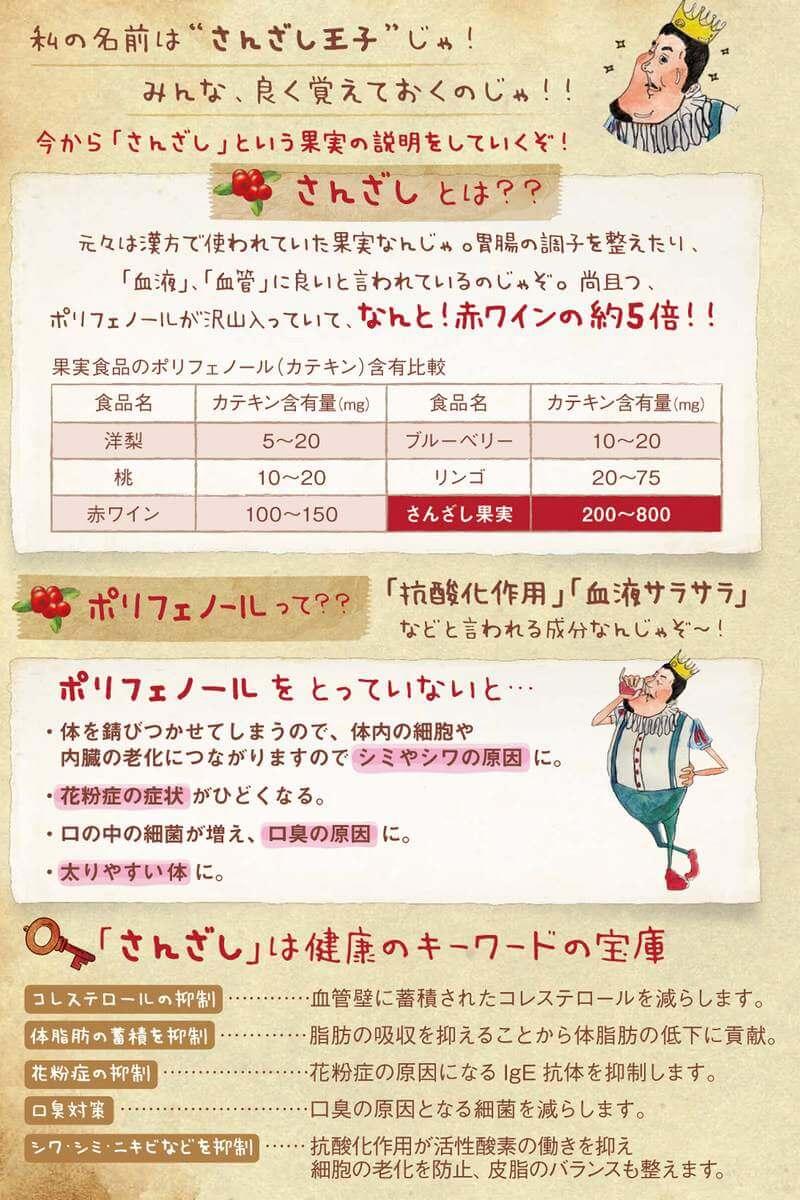 さんざしドリンクはコレステロールや脂肪蓄積の抑制や口臭対策も。